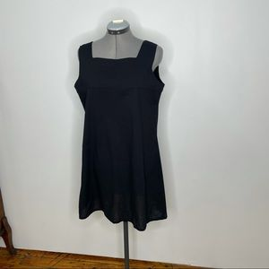 EmersonMade- Emerson Fry Black Cotton Shift Dress